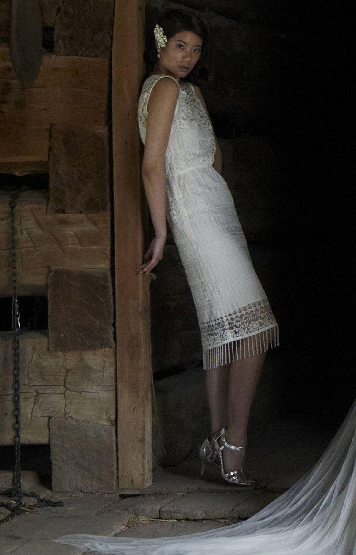 Alice and Olivia lace dress, $595 at Holt Renfrew (www.holtrenfrew.com).