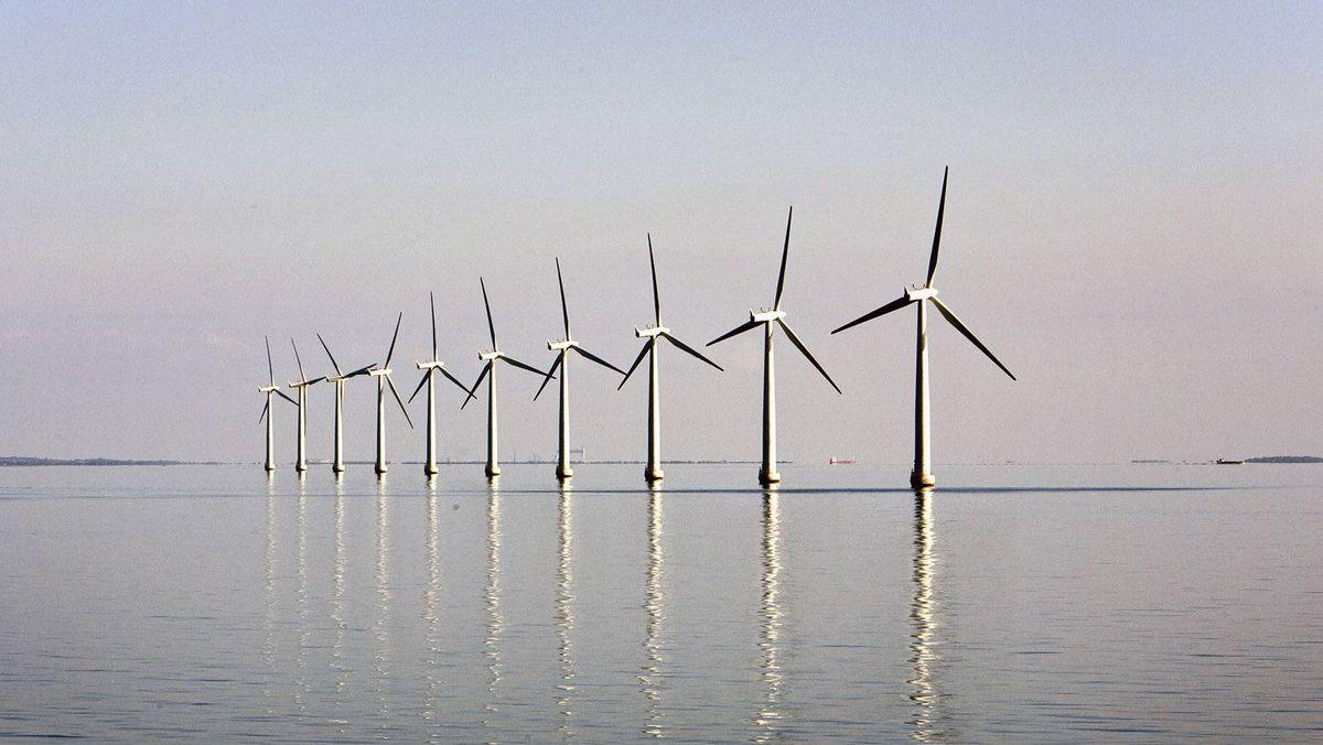 An offshore wind farm near the Danish island of Samso.