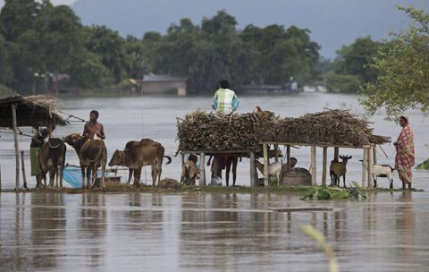Monsoon floods hit Indian villages, leaving 21 dead and 50,000 in shelters