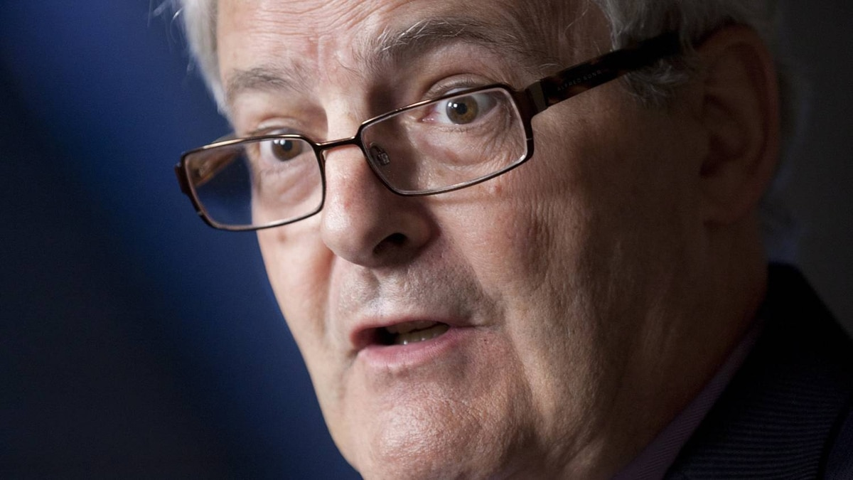 Liberal House Leader Marc Garneau speaks to reporters in the foyer of the House of Commons on June 11, 2012.