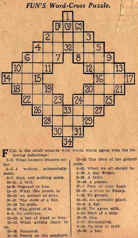 Which puzzle is celebrating its 100th birthday? Need a clue?