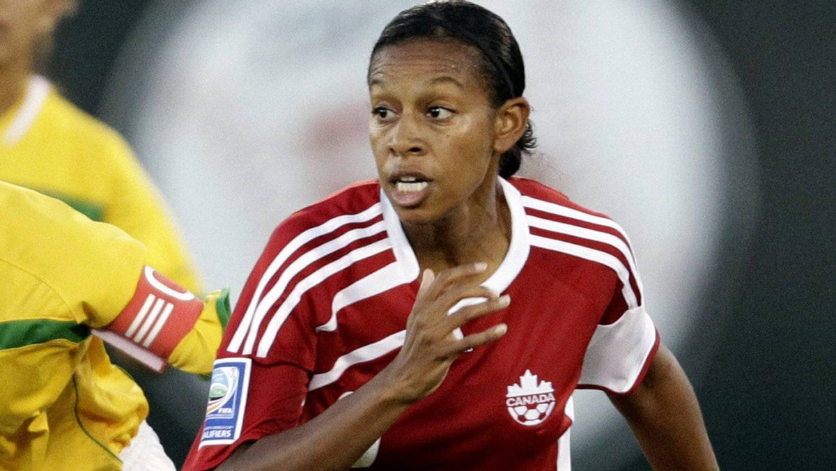 Candance Marie-Chapman of Canada during the CONCACAF Women's World Cup qualifying tournament soccer match at the Beto Avila stadium in Cancun October 31, 2010.