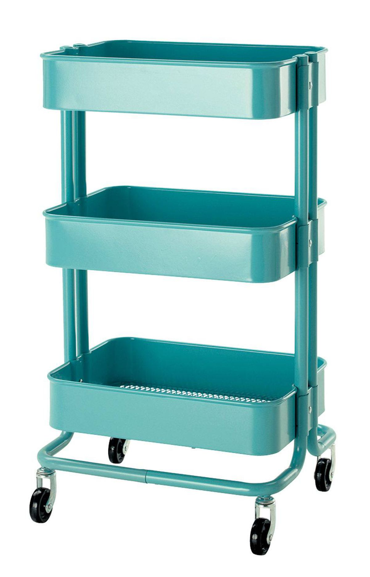 Get organized – stylishly – with a sage-green kitchen cart that could easily do double duty in the bathroom. Raskog trolley, $70 at IKEA (www.ikea.ca).