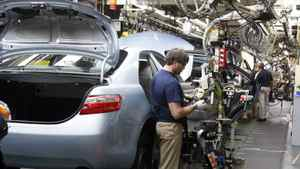 The Toyota Camry assembly line at a plant in Georgetown, Ky.