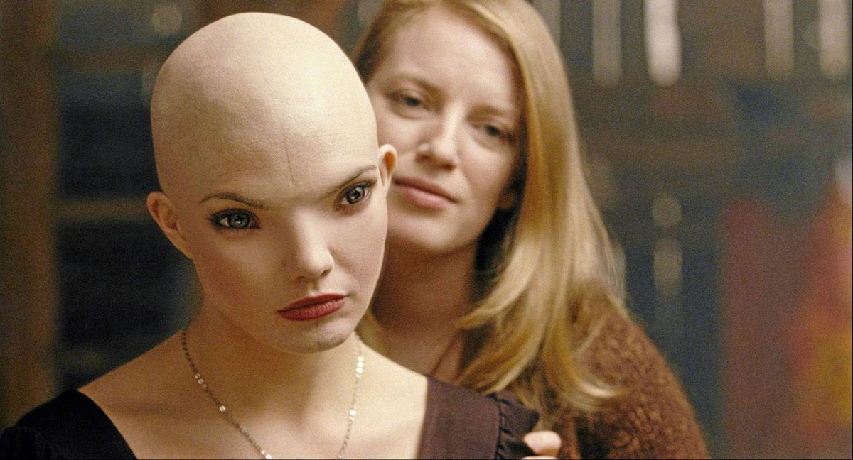 As Splice progresses, it's less and less clear whether it's the scientist Elsa (Sarah Polley, right) or her creation Dren (Delphine Chanéac that is to be feared.