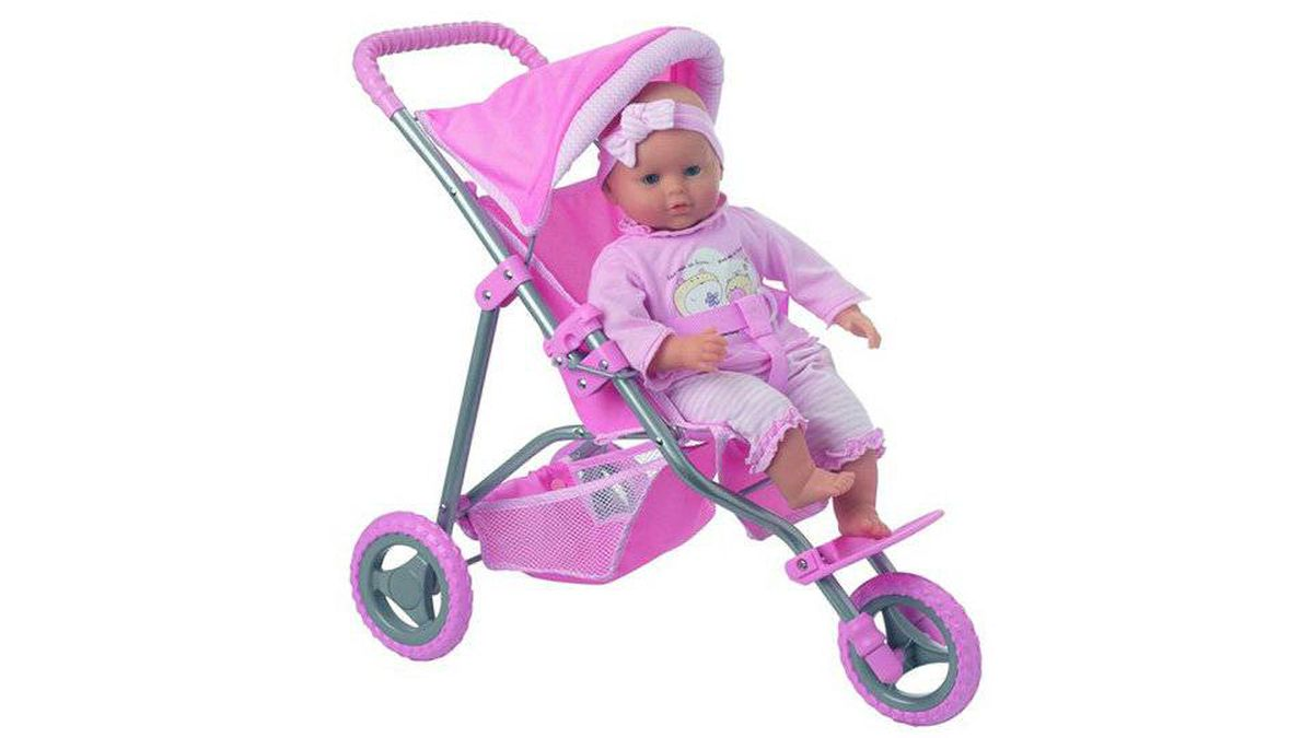 Jogging Stroller Does a baby-doll jogging stroller teach little girls that staying active is a good thing - or does it just play into the pressure on moms to lose the baby weight?