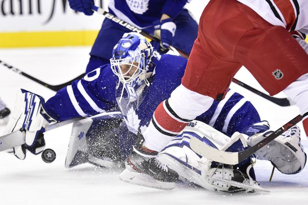 Hurricanes manage a win – with a little help from Maple Leafs goalie Garret Sparks