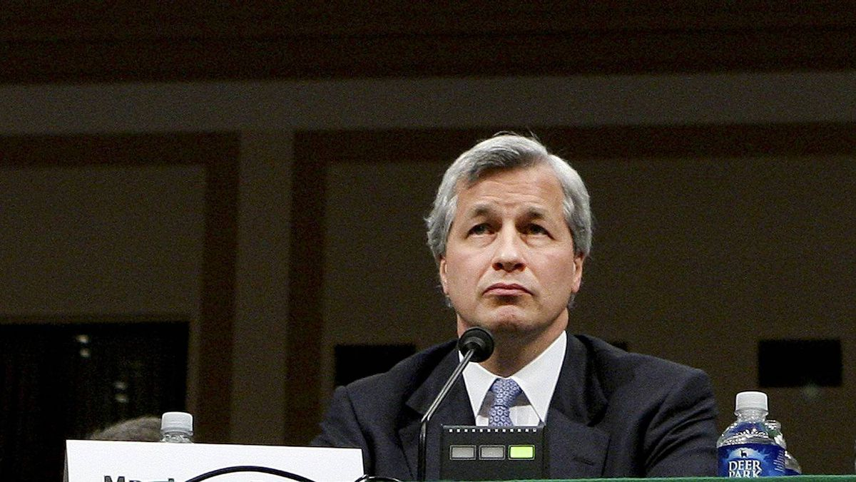 Jamie Dimon, the chief executive of JPMorgan Chase, during a hearing on Capitol Hill about financial markets, in Washington, April 3, 2008.