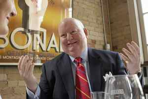 Mike Duffy, the former CTV host who was appointed a Conservative Senator, speaks in Toronto on January 24, 2007.