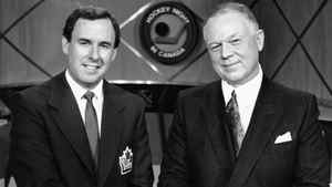 Don Cherry and Ron MacLean. CBC file photo. c. 1991