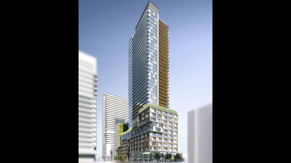 New 40-storey condo development proposed for site of LCBO at Spadina and King.