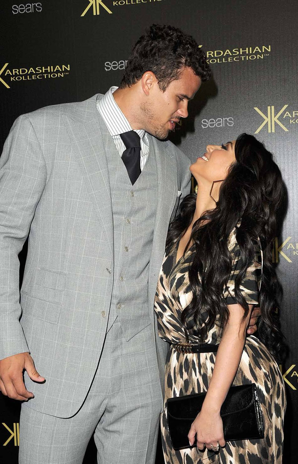 The couple, three days before their much-publicized wedding, attend the launch of a new line of clothes, the Kardashian Kollection in Hollywood on Aug. 17.