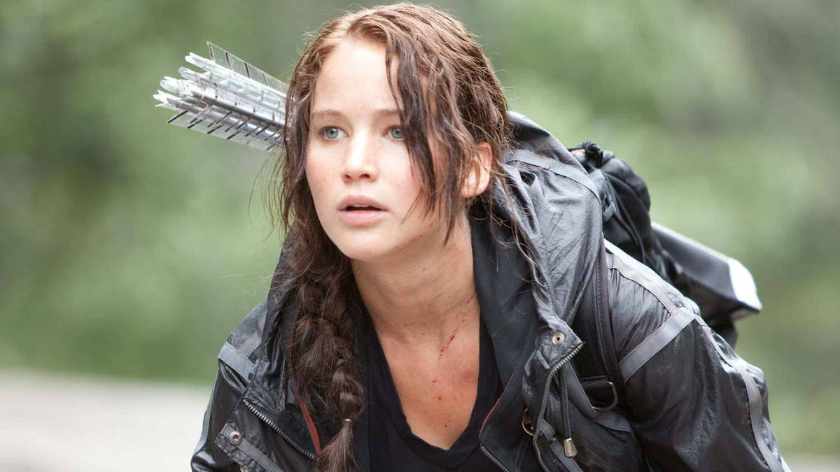 """Jennifer Lawrence as Katniss Everdeen in a scene from """"The Hunger Games"""""""