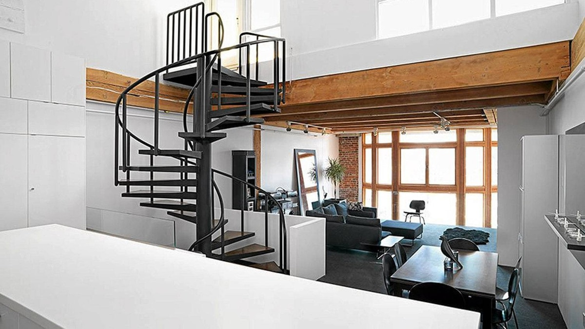 Inside the Crosstown loft designed by Campos/Leckie. High density downtown living for a family - as an alternative to the suburbs - and an innovative use of space.