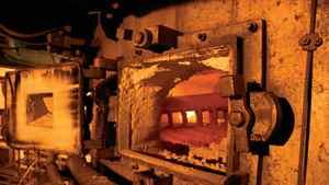 A roaster at the Endako mine