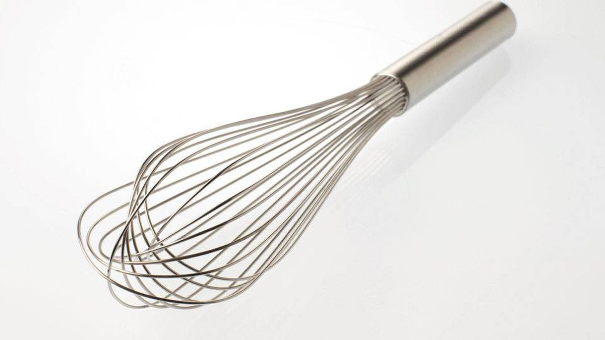 A balloon whisk is useful for combining dry ingredients in baking recipes (don't bother sifting flour and salt together; a quick whisking is good enough), making lump-free sauces and gravy and, yes, even beating eggs.