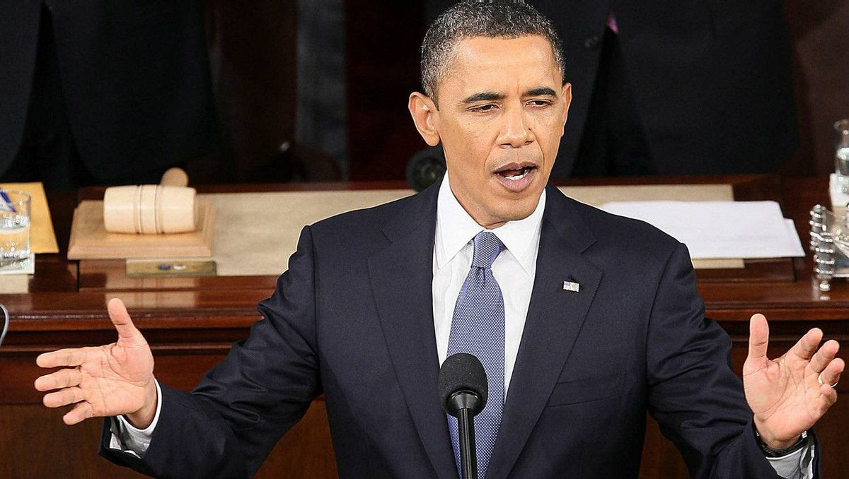 U.S. President Barack Obama addresses a Joint Session of Congress while delivering his State of the Union speech on Jan. 25, 2011 in Washington, D.C.