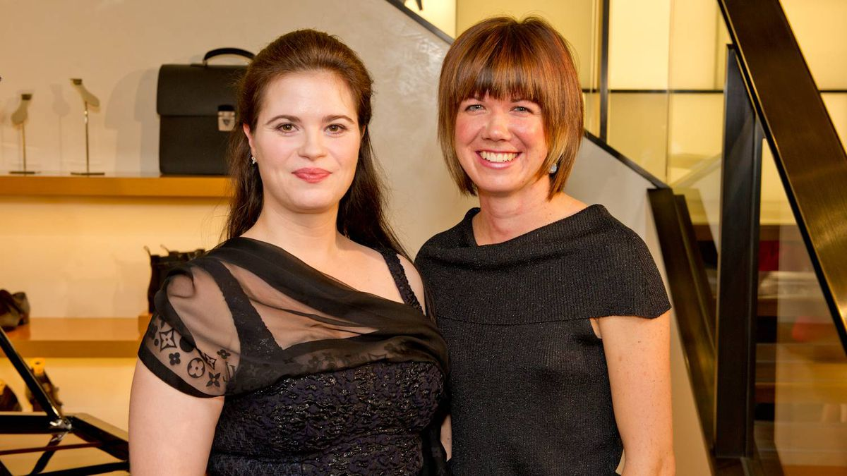 Canadian Opera Company soprano Michele Capalbo (left) and Anne Larlee