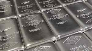 A file photo of silver bars.