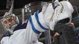 Ondrej Pavelec #31 of the Winnipeg Jets checks the puck supply and heads out for warmups prior to the game against the Philadelphia Flyers at the Wells Fargo Center on October 27, 2011 in Philadelphia, Pennsylvania. Coach Claude Noel says the Jets must reassess their objectives after a 3-6-1 start. (Photo by Bruce Bennett/Getty Images)