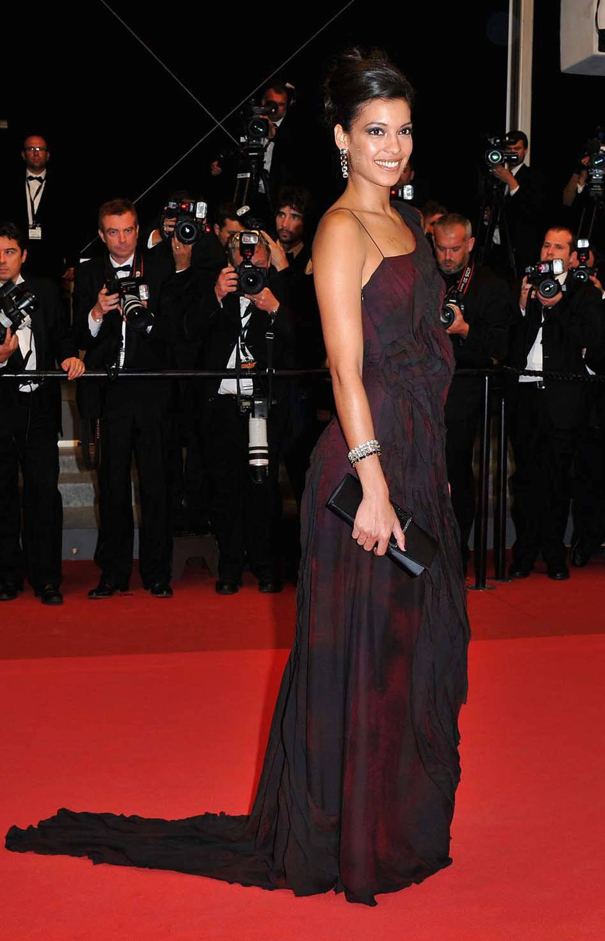"""Actress Stephanie Sigman attends the """"Miss Bala"""" premiere at the Cannes Film Festival on Friday."""
