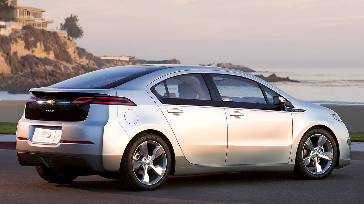 2011 Chevrolet Volt: General Motors calls the Volt an extended range electric car. It does run on battery power until the battery runs dry and an on-board gas motors kicks in to charge the battery pack and keep the car going for several hundred more kilometres.