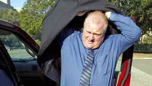 Toronto Mayor Rob Ford arrives for a meeting with Ontario Premier Dalton McGuinty at the Ontario Legislature in Toronto on Wednesday August 17, 2011. Ford called 911 Monday morning, Oct. 24, after being confronted by a crew from CBC's This Hour Has 22 Minutes.