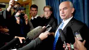 Former BC Energy Minister Bill Bennett BC Legislature in Victoria on the day he was fired from cabinet. Nov. 17, 2010