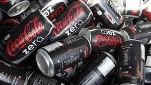 In this Nov. 20, 2010 photo, cans of Coca-Cola Zero are shown at Homestead-Miami Speedway in Homestead. Fla.