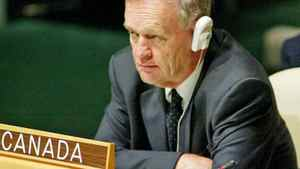Prime Minister Jean Chretien listens to speeches at the United Nations General Assembly in New York on Sept. 16, 2002.