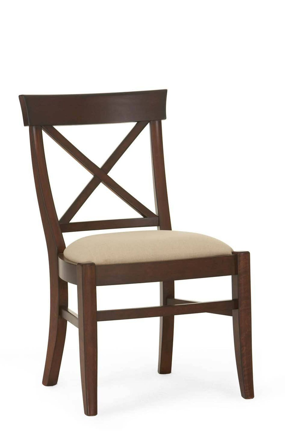 Pottery Barn's solid wood Aaron Chair features a hand-joined X-shaped back, distressed detailing and a flax linen upholstered seat. $298 at Pottery Barn (www.potterybarn.ca).
