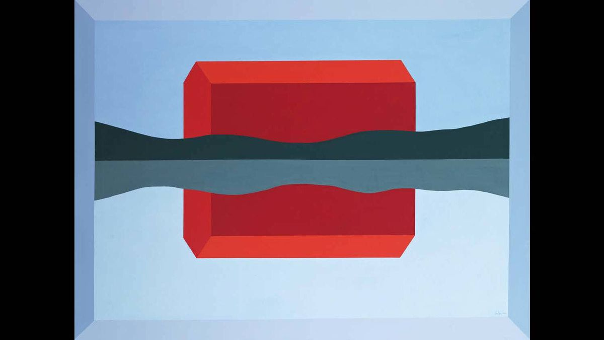 "An auction of its own? Charles Pachter's"" Red Barn Reflected"" (2010) is the kind of post-World War Two Canadian art that Concrete Contemporary Auctions and Projects will specialize in."