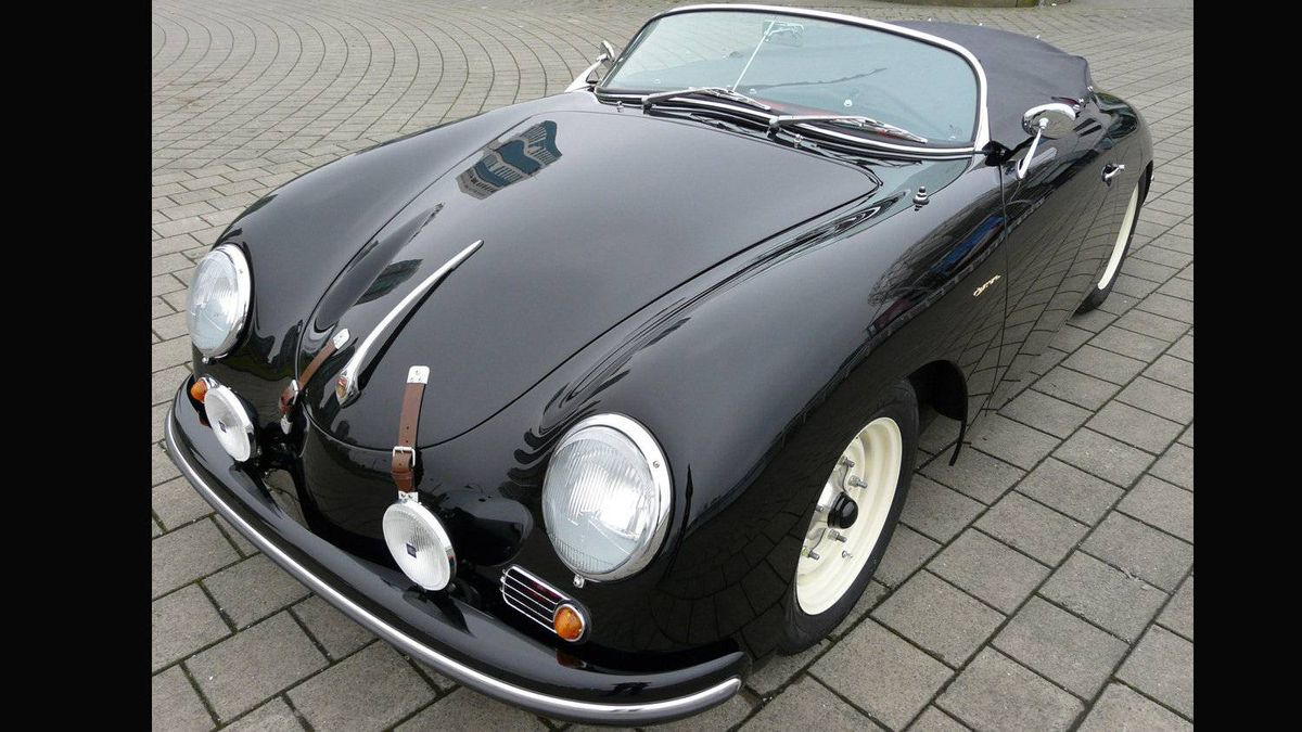 Porsche 356 Speedster. Produced by Porsche from 1954 until 1958, the Speedster is one of the world's most iconic convertibles. James Dean and Steve McQueen both owned one. (The car in this photo is a Speedster replica made by Intermeccanica, a Vancouver company.)