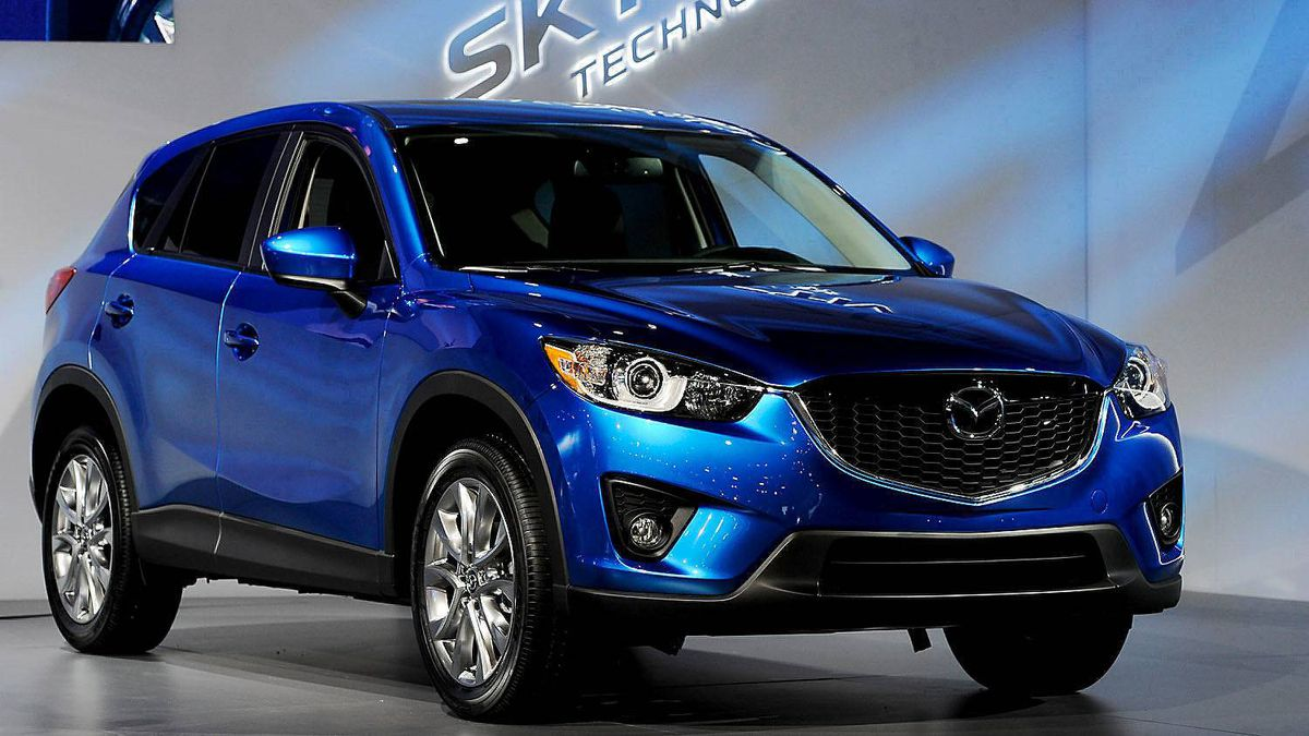 The Mazda CX-5 is unveiled during the LA Auto Show