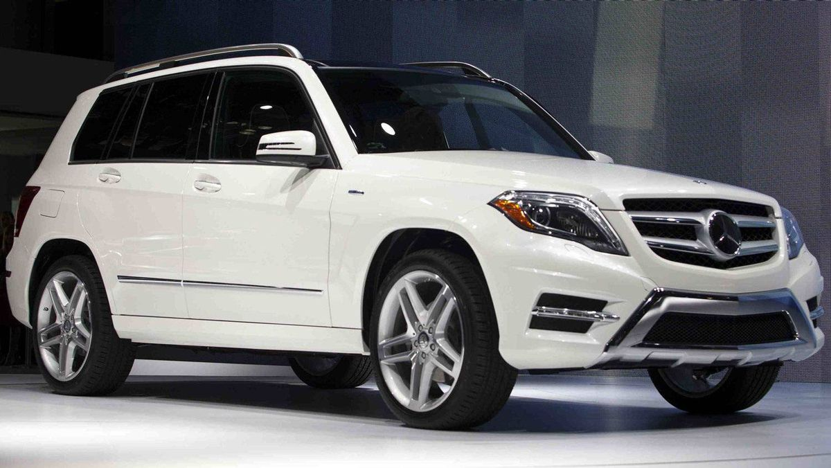 The Mercedes-Benz GLK350.