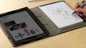 "booqpad Every hip designer has an iPad 2, but in those client meetings they need to be able to take notes, sketch ideas, or just doodle. This agenda is a snazzy case and notepad holder all in one. There's also a slot for a pen and a folio for any paper those ""veteran"" account managers insist on handing out. ($49.95; stores.booq.com)"
