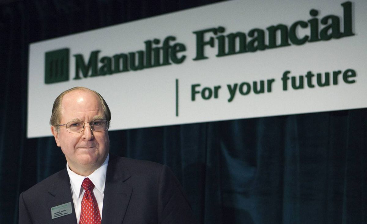 Manulife Financial President and Chief Executive Officer Donald Guloien gets ready to speak at their annual general meeting for shareholders in Toronto, May 6, 2010.