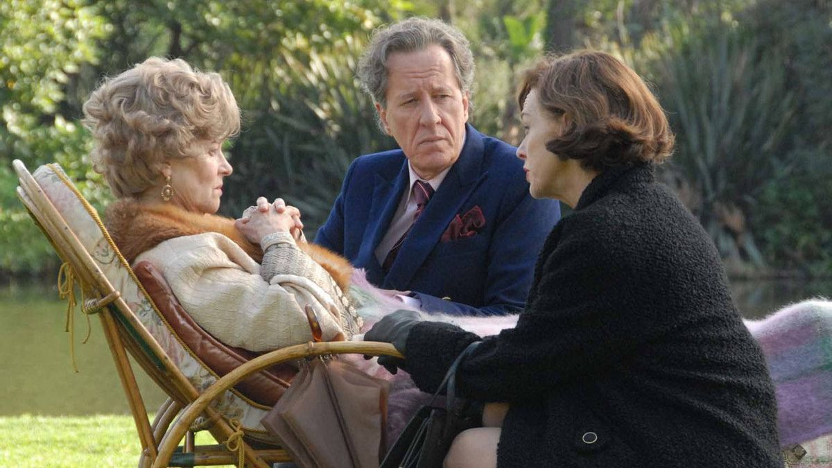 """Judy Davis as Dorothy (right), Charlotte Rampling as Elizabeth and Geoffrey Rush as Basil in a scene from """"The Eye of the Storm """""""
