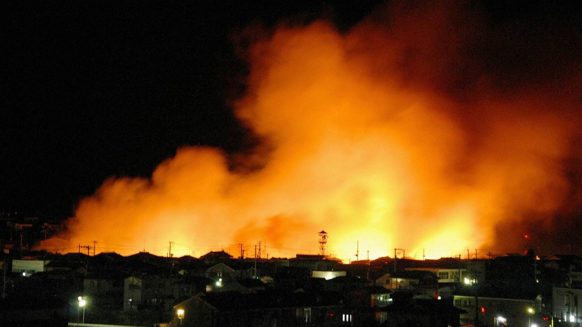 Fires burn in the port area of Iwaki City, Fukushima Prefecture following an earthquake in northeastern Japan, March 11, 2011. The biggest earthquake to hit Japan in 140 years struck the northeast coast on Friday, triggering a 10-metre tsunami that swept away everything in its path, including houses, cars and farm buildings on fire. A tsunami warning has been issued for the entire Pacific basin except for the mainland United States and Canada following a huge earthquake that hit Japan on Friday, the Pacific Tsunami Warning Center said.