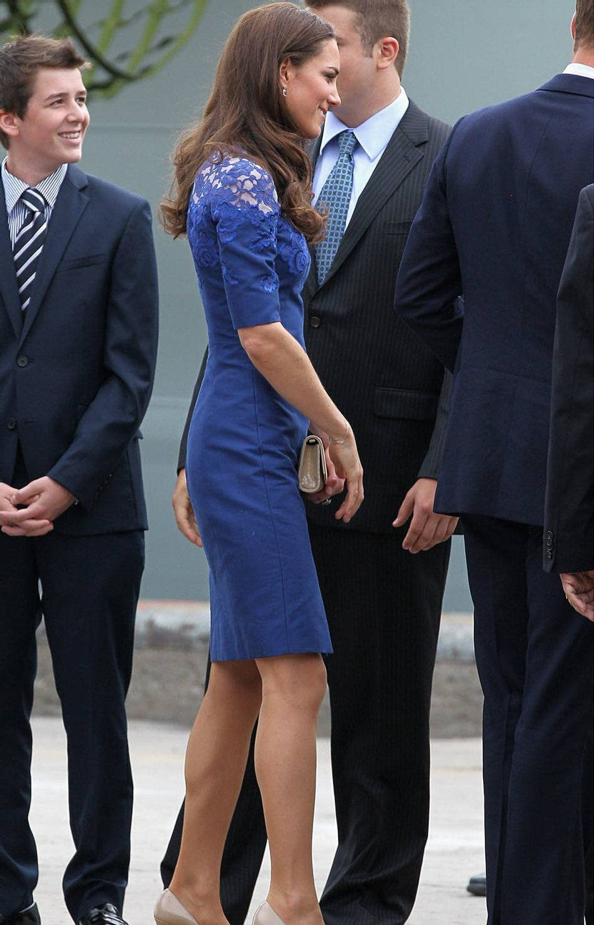 Catherine, Duchess of Cambridge disembarks HMCS Montreal on July 3, 2011 in Quebec, Canada.