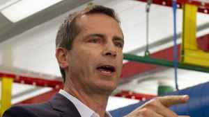 Ontario Liberal leader Dalton McGuinty answers questions during a campaign event on Monday September 12, 2011 at Electrovaya in Mississauga, Ont. THE CANADIAN PRESS/Frank Gunn