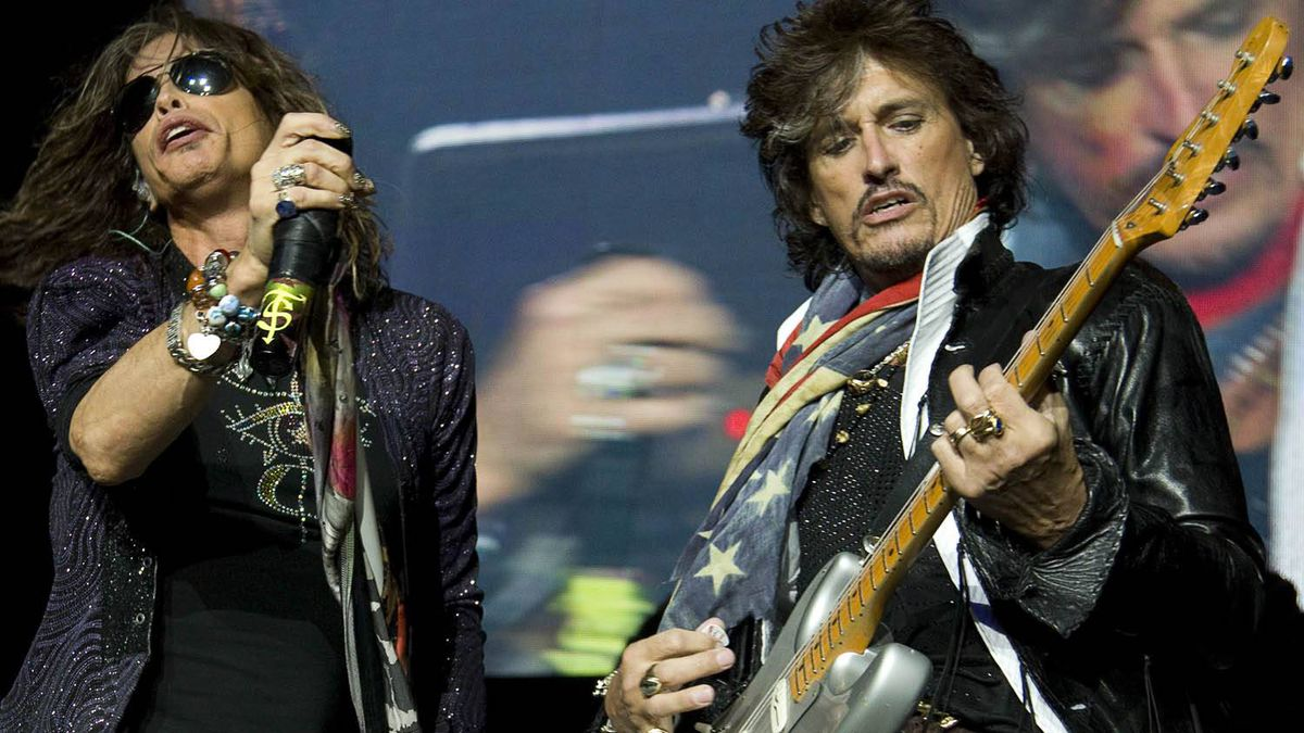 Steven Tyler, left, and Joe Perry of Aerosmith perform in Vancouver. Jeff Vinnick for the Globe and Mail