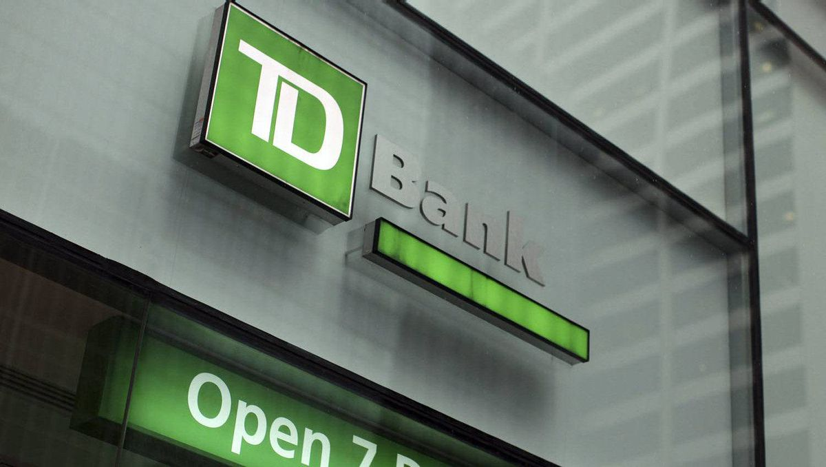 The outside of a TD Bank branch is seen in New York January 17, 2012.