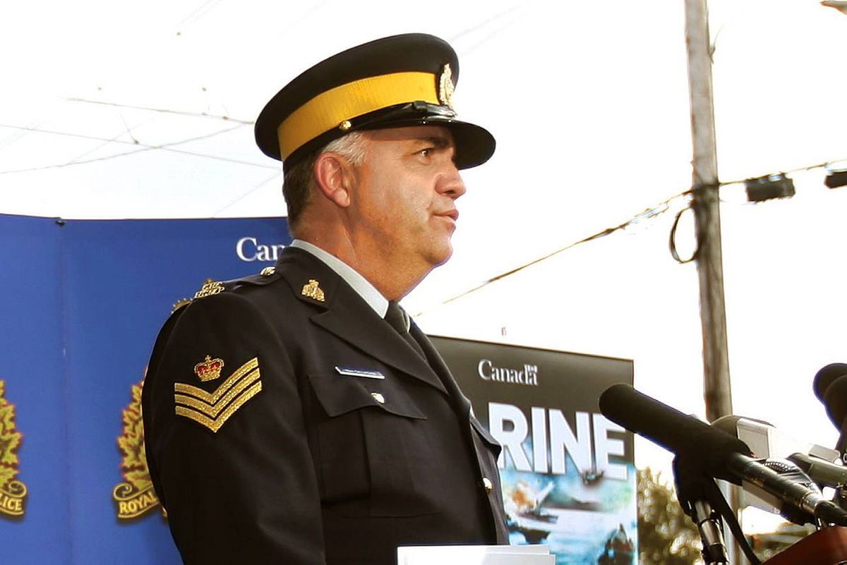 Sgt Mark Gallagher speaks to the media during a news conference in Halifax, N.S., in this Sept. 2008 file photo.