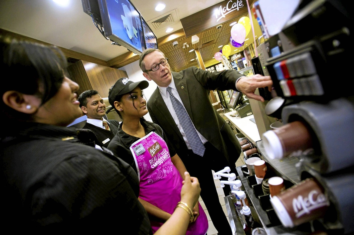 McDonald's Canada CEO John Betts at one of the chain's Toronto outlets. 'The food is a lot more relevant today.'