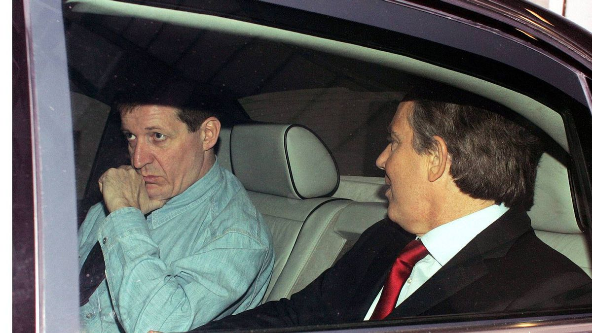 Alastair Campbell, left, pictured with his then boss, former British prime minister Tony Blair.