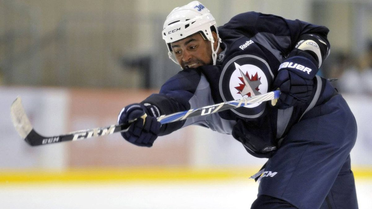 Winnipeg Jets player Dustin Byfuglien on Sept. 17, 2011.