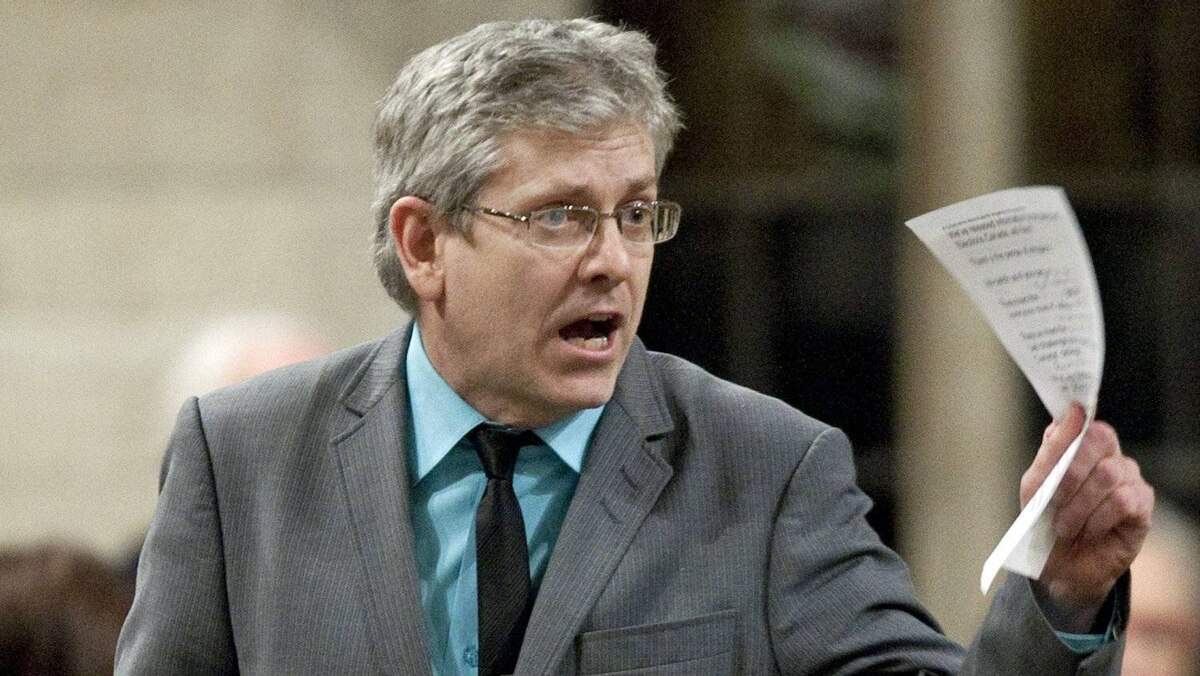 NDP MP Charlie Angus speaks during Question Period in the House of Commons on Feb. 28, 2012.