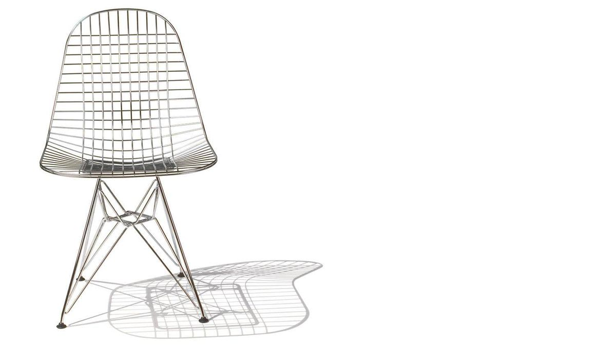 Designed by Charles and Ray Eames for Herman Miller, the Eames Wire Chair is a welded-wire take on their classic moulded plastic model and features the striking Eiffel base to match. $629 at Design Within Reach (www.dwr.com).