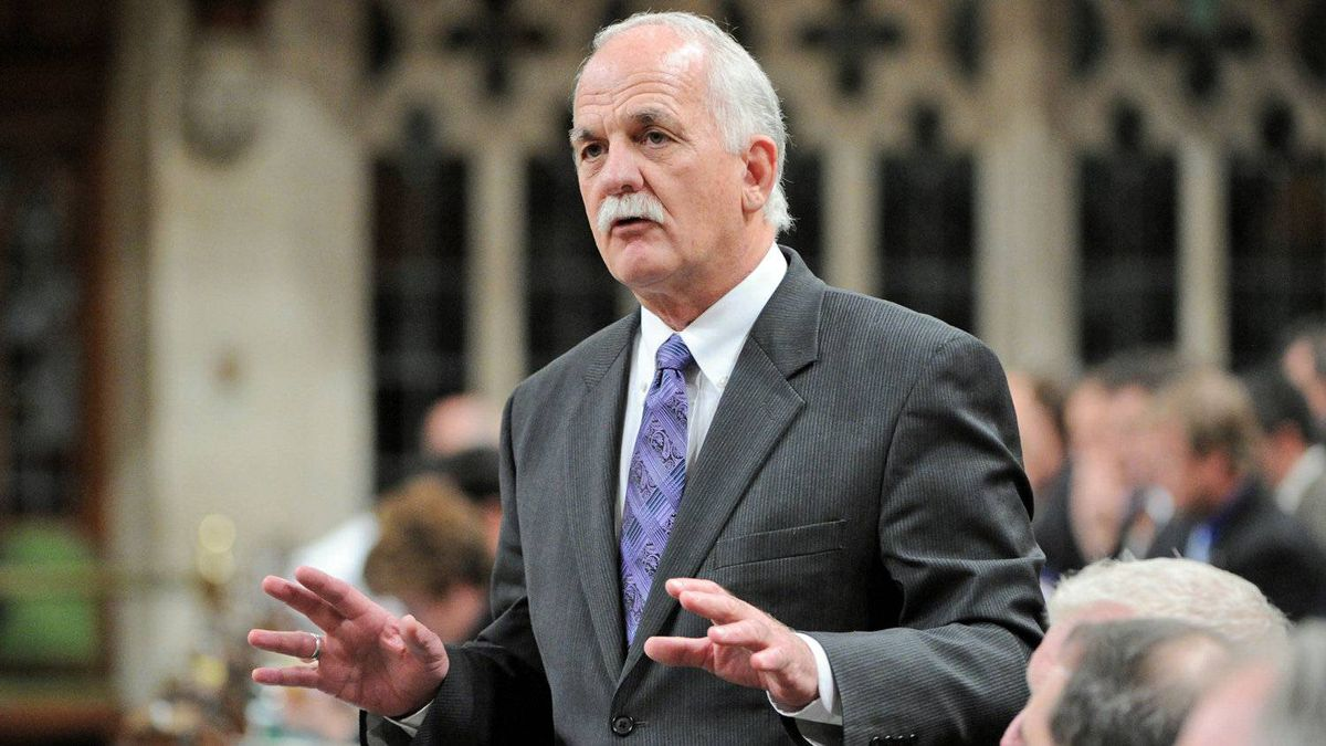 Public Safety Vic Toews speaks during Question Period in the House of Commons on March 5, 2012.